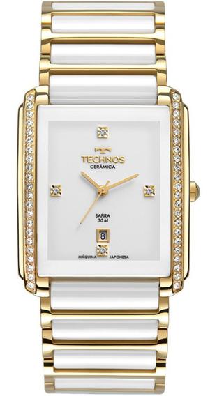 Relógio Technos Feminino Elegance Ceramica Gn10ax/4b