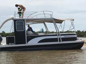 Catamarán De Aluminio Naval Pontoon 240 Hard Top Lerch