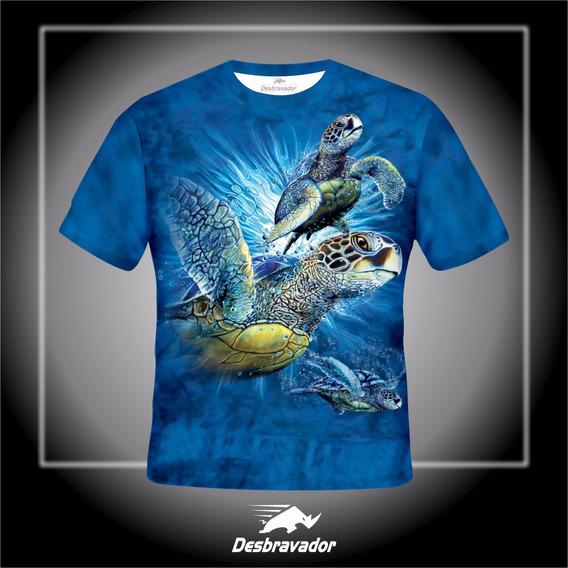 Camiseta 3d Tartarugas Marinha