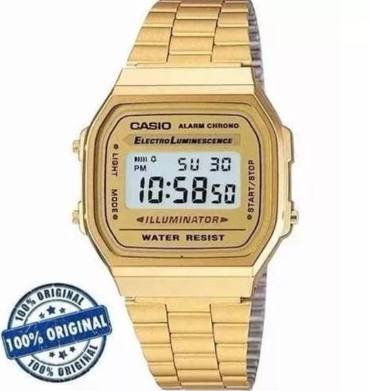 Relógio Casio Retrô Vintage Dourado Original A168wg-9wd