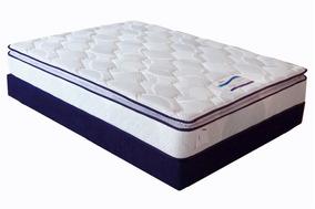 Colchon Loren King Size - Blanco Y Azul Këssa Muebles