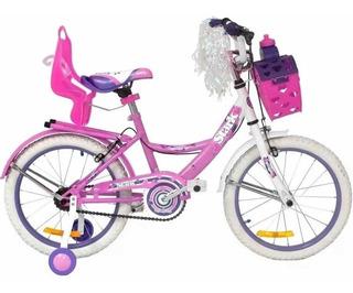 Bicicleta Playera Stark 6094 Rodado 14 Dama Flower En Cuotas