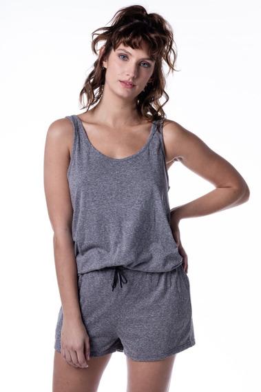 Pijama Corto Mujer De Dos Piezas Gris Topo Mizu