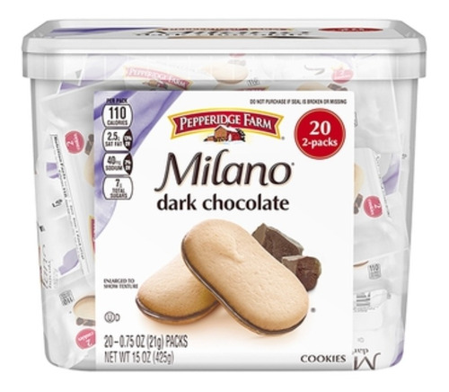 Galletas Pepperidge Farm  Milano 20 Pk - kg a $2262