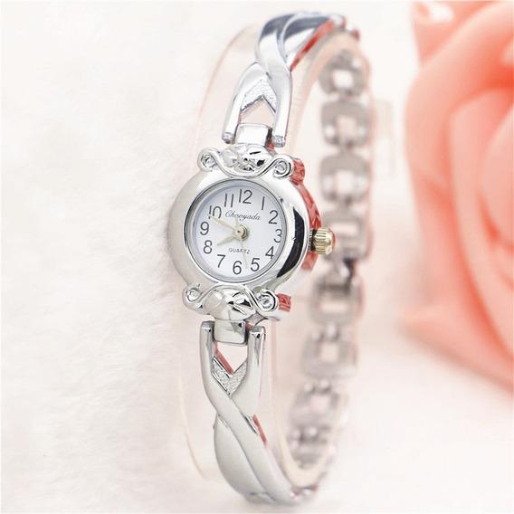 Relógio Lindo Feminino Barato Promoção Dourado + Brinde