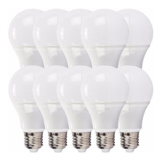 Kit 10 Lampada Bulbo Led 7w A60 Econômica Bivolt E27 Casa