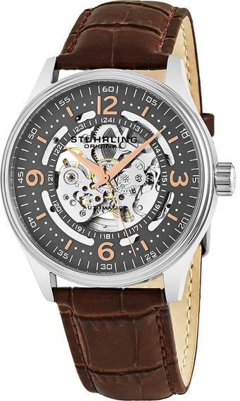 Reloj Stuhrling Original De Cuero 574.03 Para Hombre