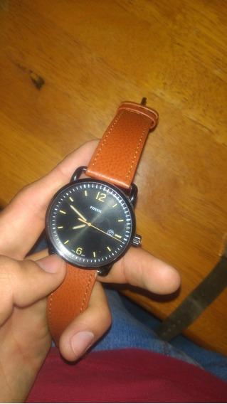 Reloj Fossil Fs5276 Seminuevo, Extensible De Cuero Original
