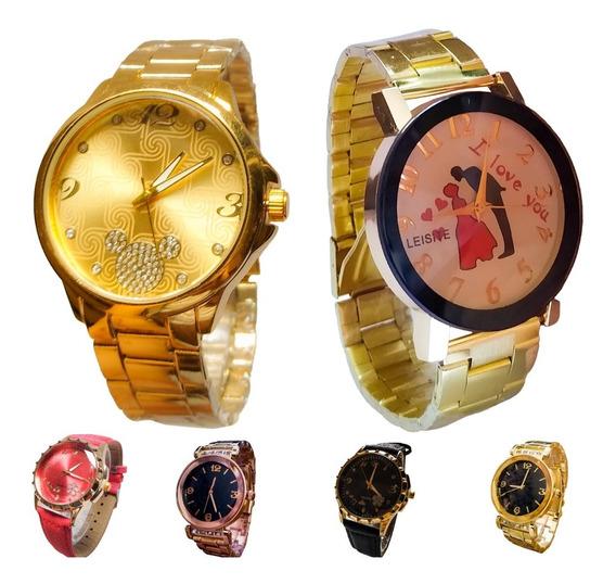 Leve 3 Relógios Femininos Vários Modelos