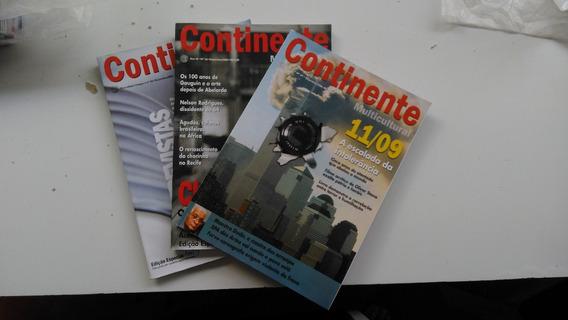 3(três) Revistas - Continente