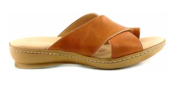 Chinela Mujer Cuero Briganti Sandalia Zapato Goma Mcch26044