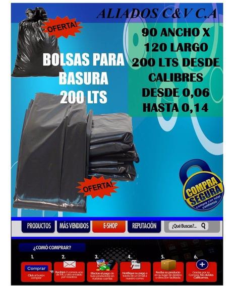 Bolsa Para Basura 200 Lts Calibre 0,09 Somos Fabrica Oferta!