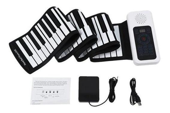 Piano Digital Flexível Teclado 88 Teclas Midi Pronta Entrega