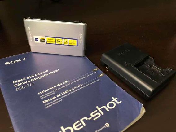 Câmera Sony Cybershot Dsc-t77 Fullhd 1080 - 10mp