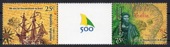 Argentina 2000 Gj 3041/42 En1** Mint Historia Brasil A