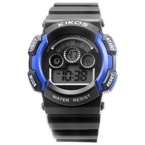 Relógio Digital Kikos Caixa 4,6 Cm Alarme Masculino 3 Mt Led