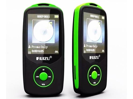 Mp3 Player Ruizu 4gb X06 Musica Multimídia Bluetooth Hifi---