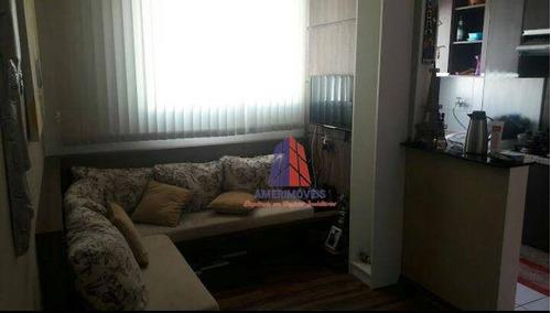 Apartamento Com 2 Dormitórios À Venda, 52 M² Por R$ 190.000 - Cond. Spazio Aramis - Jardim Progresso - Americana/sp - Ap0396