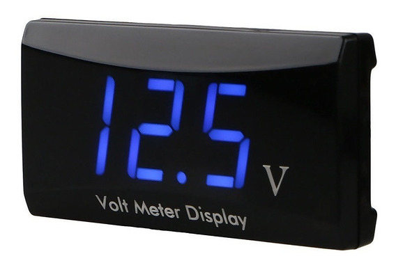 Voltímetro Digital Veicular 12v Led Azul Resistente A Água