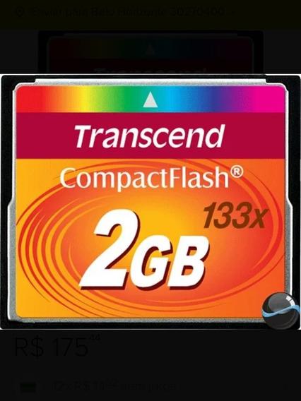 Cartão De Memória Compact Flash Cf 2gb Transcend 133x