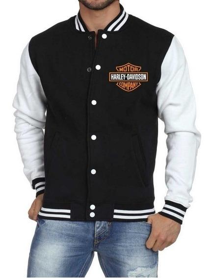 Jaqueta College Harley Davidson Masculina Bomber