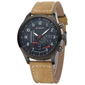 Relógio Masculino Pulseira De Couro Sport Militar Honmin