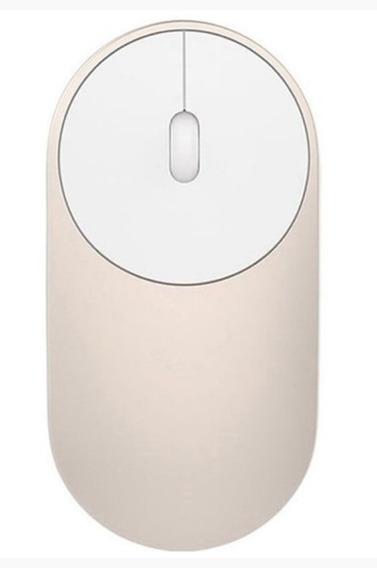 Mouse Sem Fio Xiaomi Mi Portable Original Dourado
