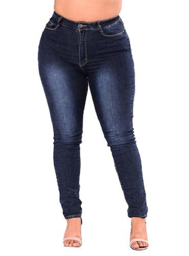 Jean Mujer Talles Grandes Chupin Elastizado Slimfit Pantalon | Mercado Libre