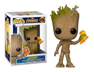 Funko Pop Groot 416 Stormbreaker Infinity War - Educando -