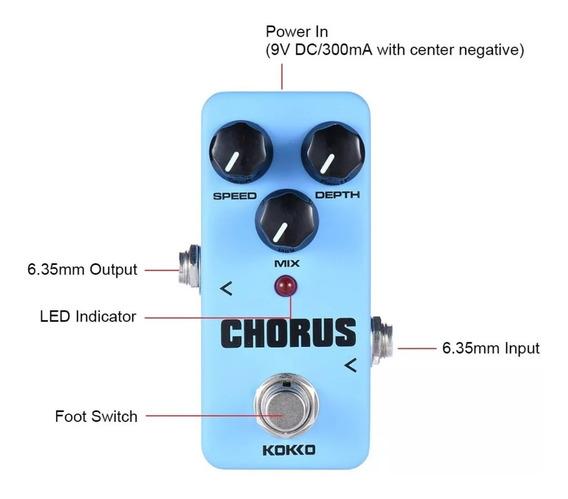 Efeito Para Guitarra Kokko Mini Pedal Fch2 Chorus