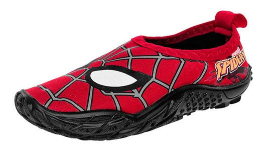 Sandak Huarache Playa Niño Rojo Textil Spiderman N26467 Udt