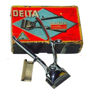 Cortadora Pelo Manual Vintage Delta Solingen Germany, Nueva