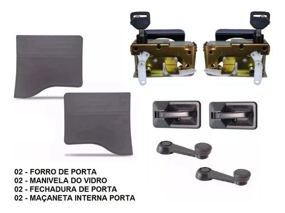 Maçaneta Porta Ford Cargo + Manivelas + Forros + Fechadura