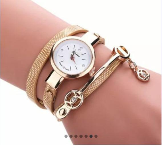 Relógio Feminino Dourado Fashion
