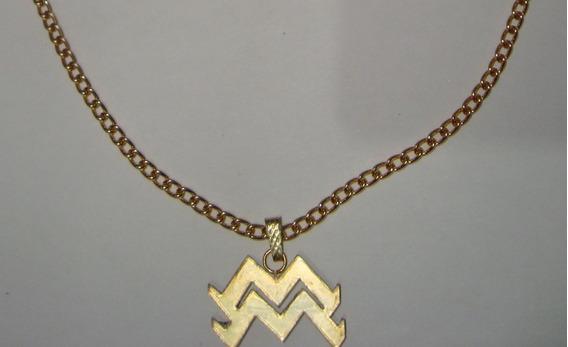 Colar Signo Aquario/colares Masculinos Feminino/frete Barato
