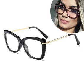 Armação Para Grau Feminino Oculos Em Acetato Geek Vintage