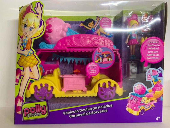 Polly Pocket Vehiculo Desfile Helados Mattel Nuevo 71cp