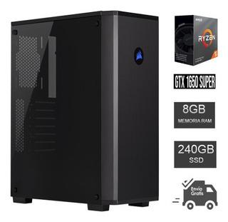 Computadora Gamer Ryzen 5 3400g, Ram 8gb Ddr4, Ssd 240gb