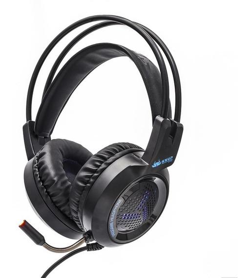 Headset Gamer 7.1 Led Usb Fone E Microfone Kp-430 Barato