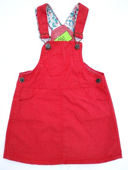 Jumper Tiki Jeans Rojo Infantil Niña. Talle 2 Al 16