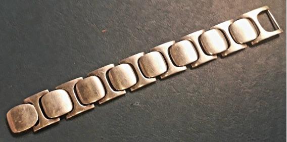 Gran Pulsera Plata 900 Cuño Belgiorno 88 Gr. 20 Cm X 2.5 Cm