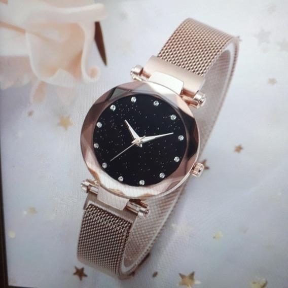 Promoção: Kit Com 2 Relógio E 1 Pulseira Magnética, Unissex: