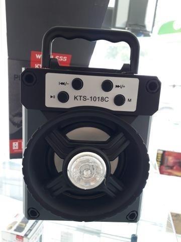 Caixa De Som Portátil C/ Bluetooth Kts-1018c