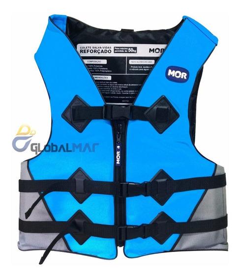 Colete Salva Vidas Reforçado Flutuante Boia Adulto 50kg Azul