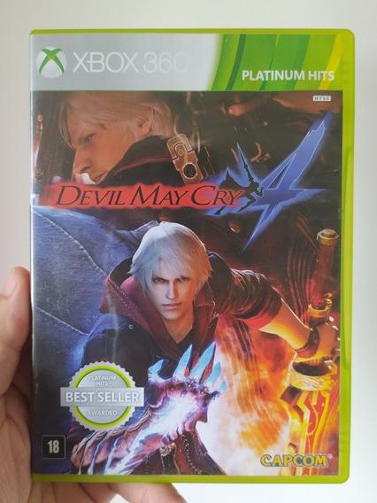 Jogo Dmc Devil May Cry 4 Mídia Física Original Xbox 360