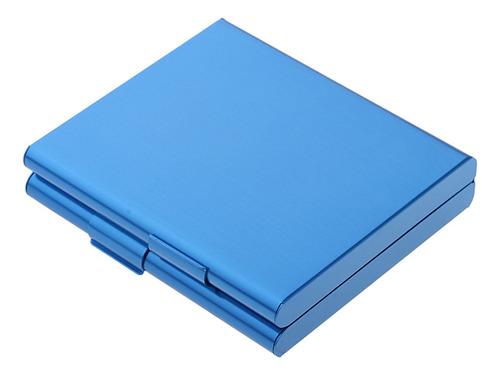 Imagen 1 de 7 de Caja De Cigarrillos De Aluminio Azul
