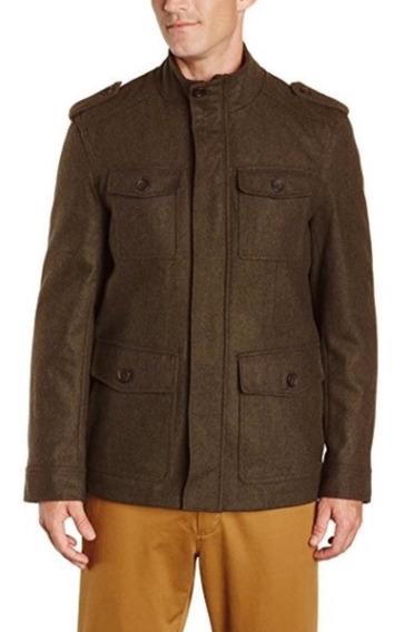 Abrigo Tommy Hilfiger Xl (wool Blend Melton Military)origina