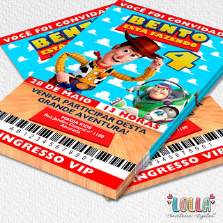 Convite Ingresso Vip Toy Story