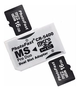 Adaptador 2 Micro Sd A Pro Duo Photo Fast Cr-5400 Psp / Sony