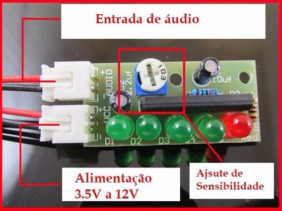 2 Kit Eletrônica Para Montar Vu Meter De Leds Com Ci Ka228
